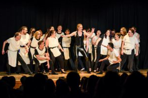 students performing in musical